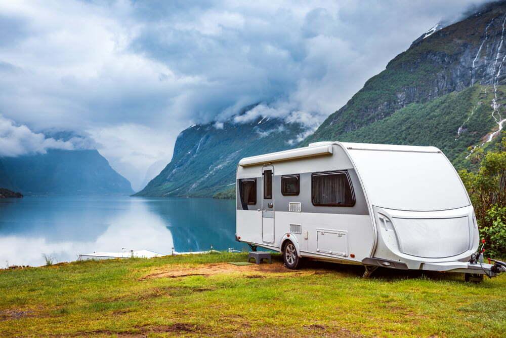 Recreational Vehicle Next to a Lake